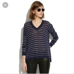 [Madewell] Vneck Sweater in Stripe